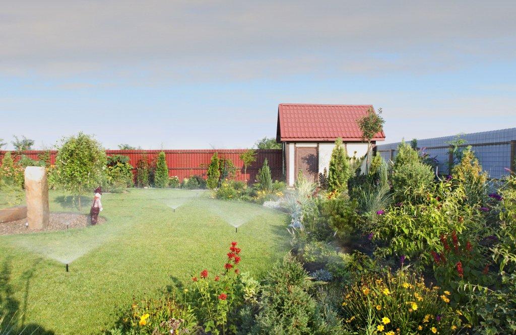 Система полуавтоматического полива для сада